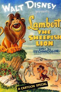 affiche poster lambert lion belant peureux sheepish disney