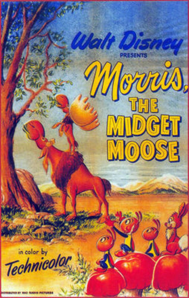 affiche poster morris petit élan midget moose disney