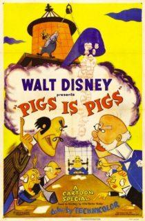 affiche poster peche mignon pigs disney