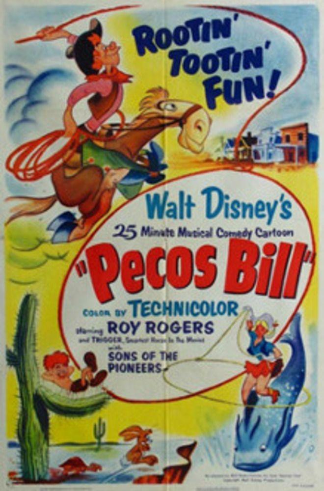 affiche poster pecos bill disney