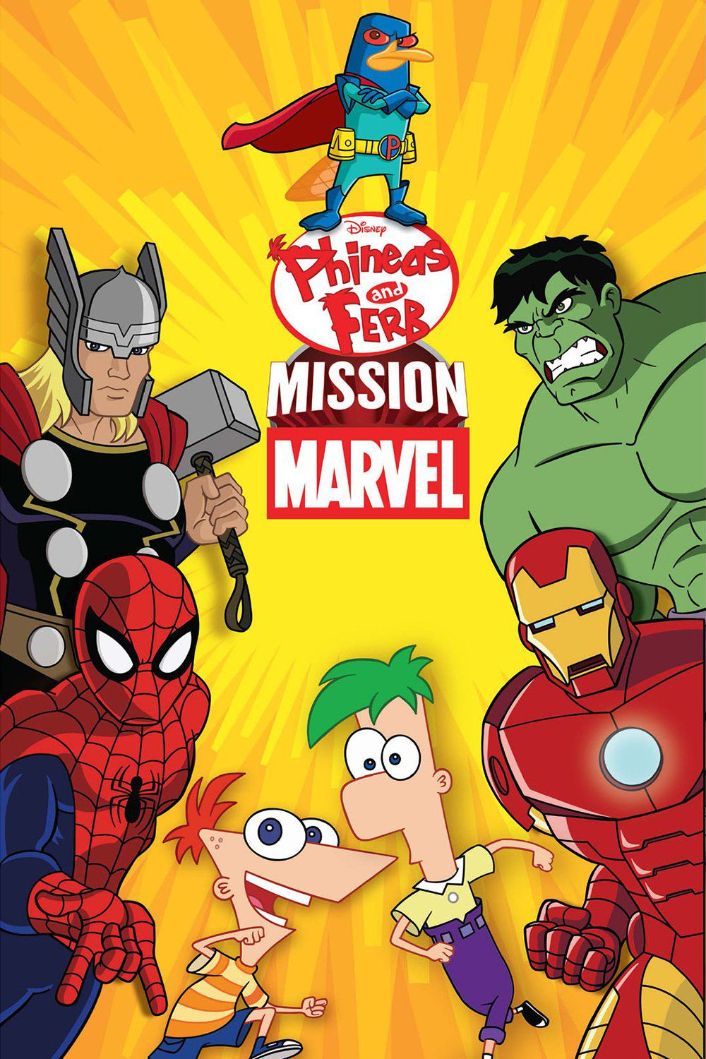 affiche poster phineas ferb mission marvel disney