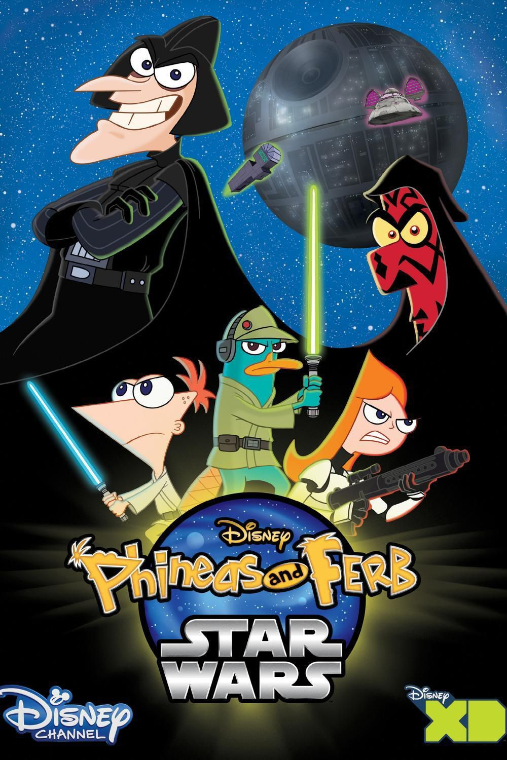 affiche poster phineas ferb star wars disney
