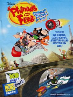affiche phineas ferb tour monde jour summer belongs disney