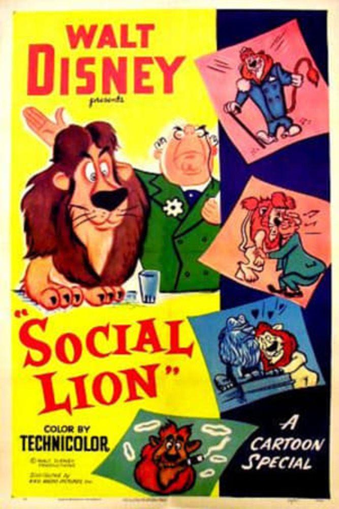 affiche poster social lion disney