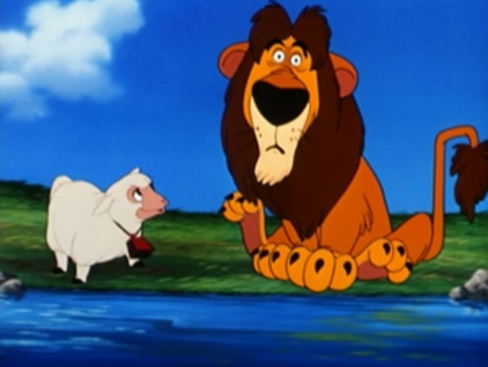 image lambert lion belant peureux sheepish disney