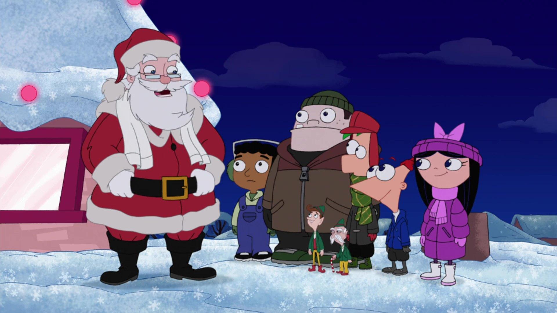 image phineas ferb vacances noel christmas vacation disney