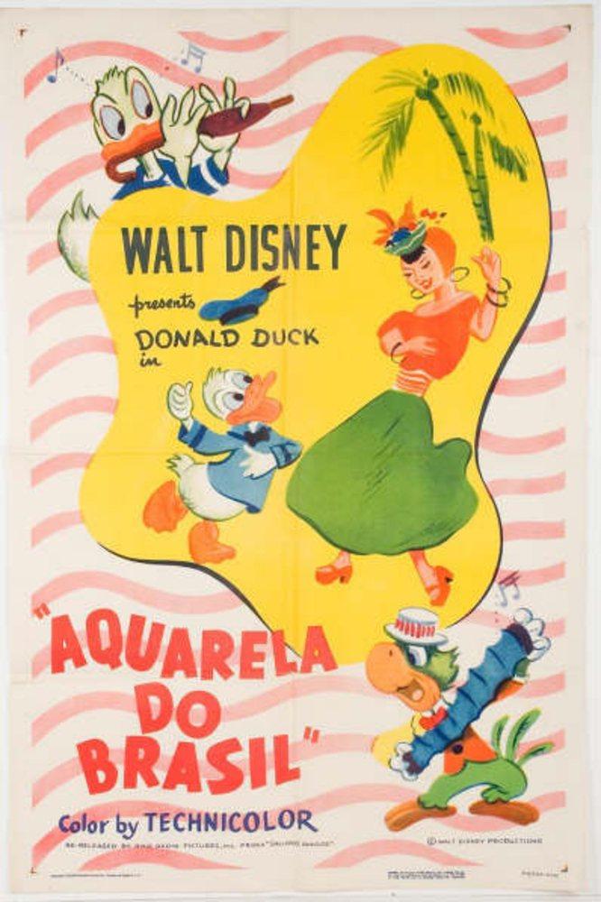 affiche poster aquarela brasil disney