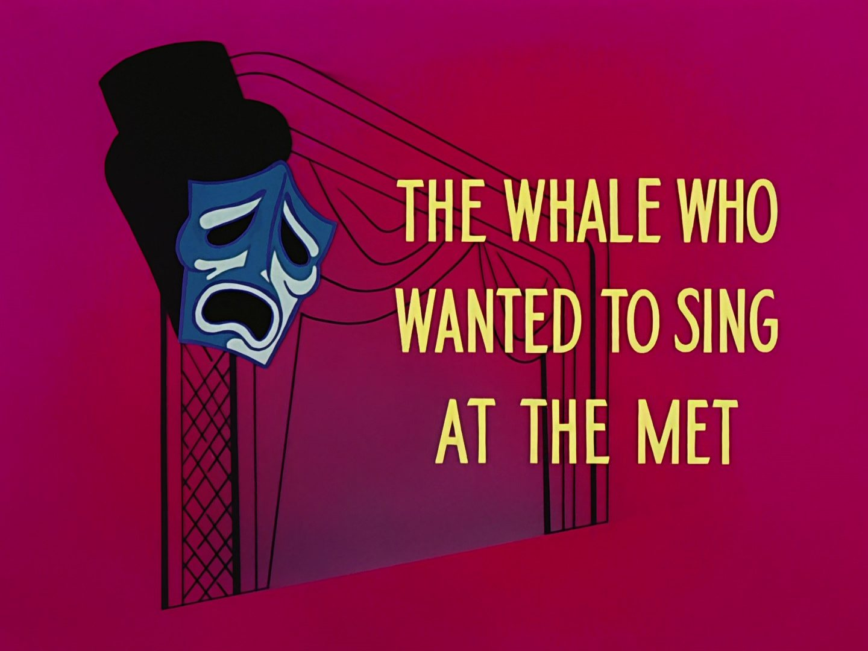 affiche poster baleine voulait chanter opera whale wanted sing met disney
