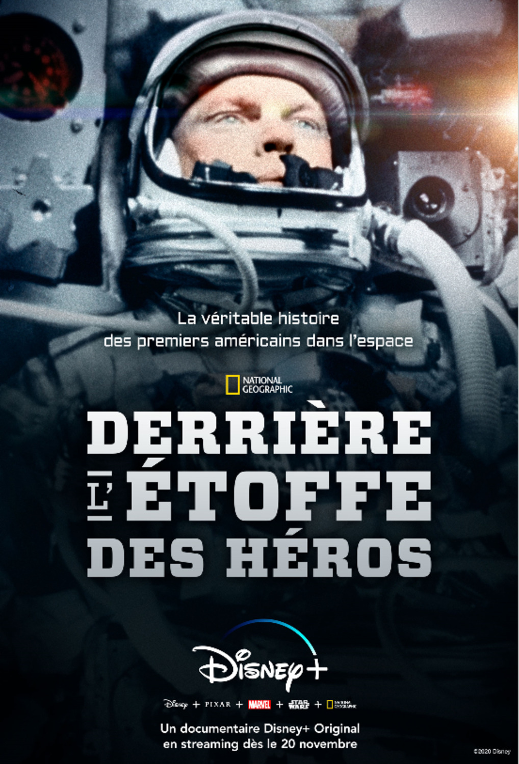 affiche poster derriere etoffe heros real right stuff disney