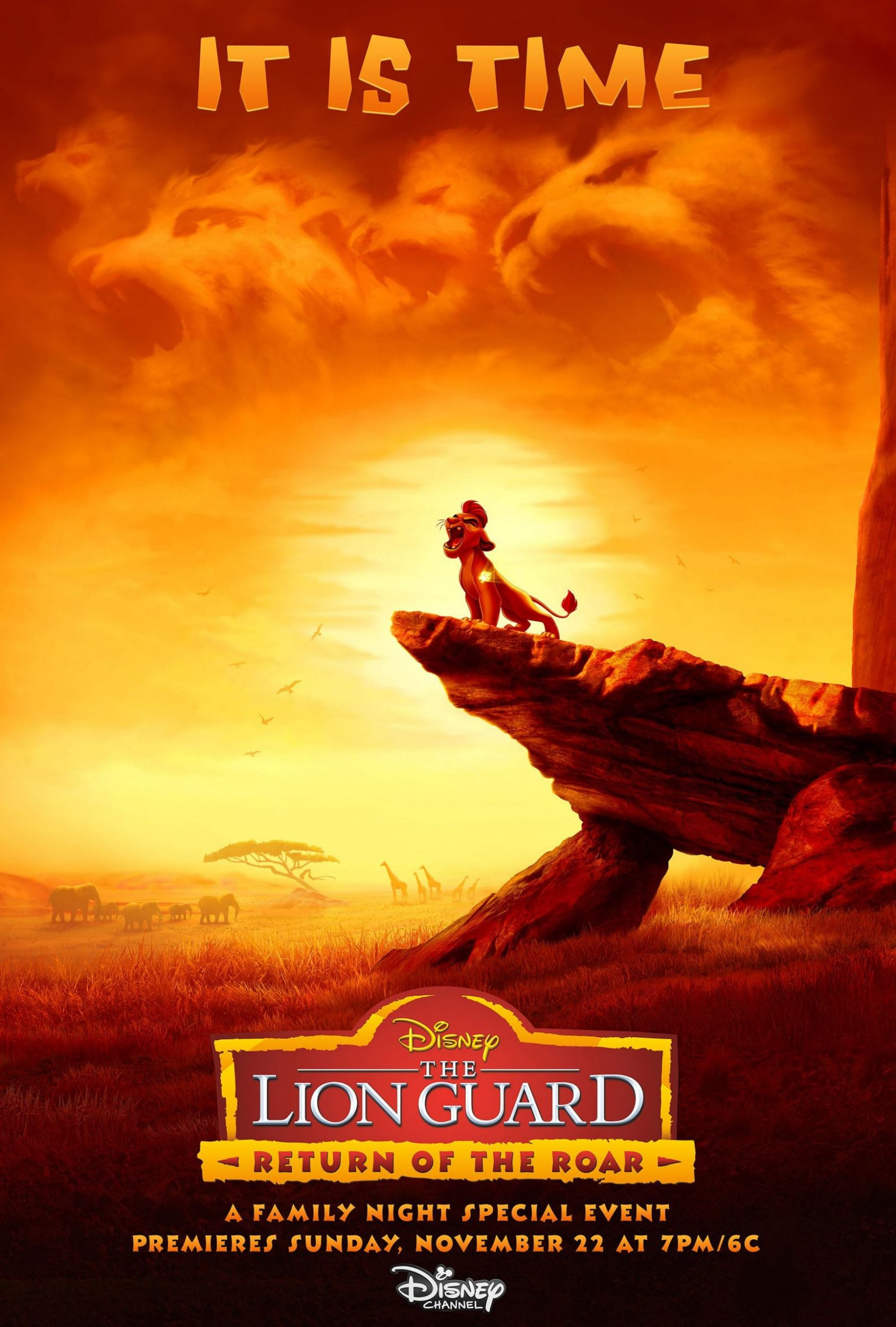 affiche poster garde guard roi king lion return roar disney