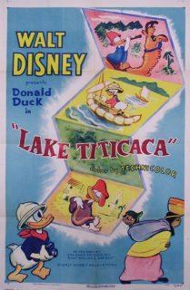 affiche poster lac lake titicaca donald disney