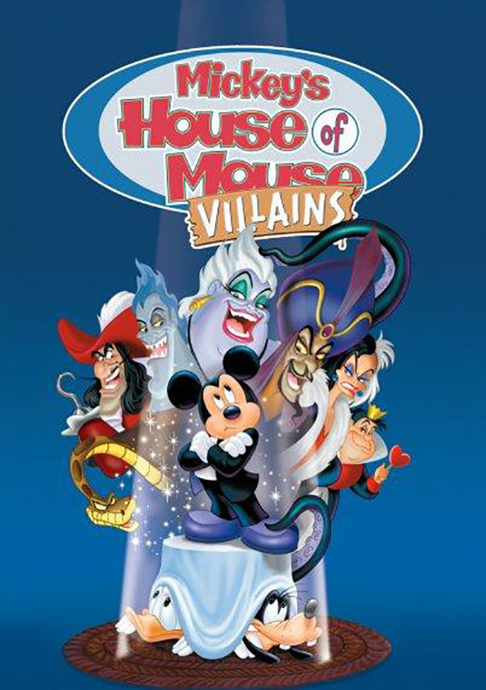 affiche poster mickey club mechants house villains disney