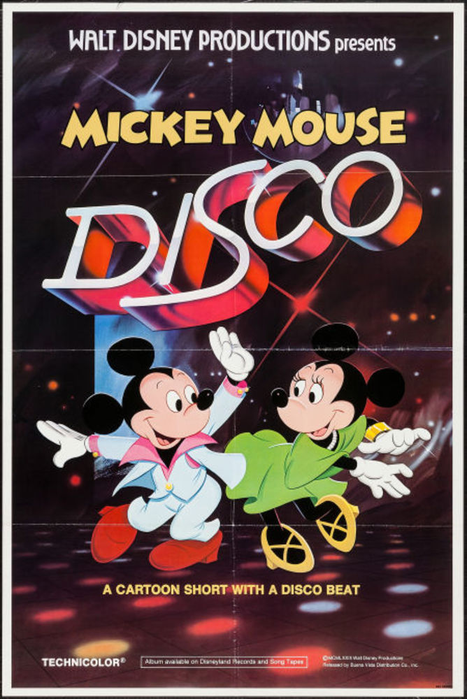 affiche poster mickey mouse disco disney