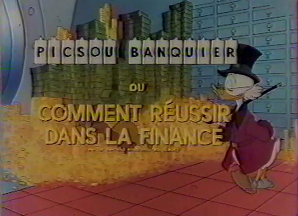 affiche poster picsou banquier reussir finance scrooge money disney