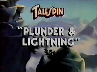 affiche poster super baloo pirates emmêlent talespin plunder lightning disney