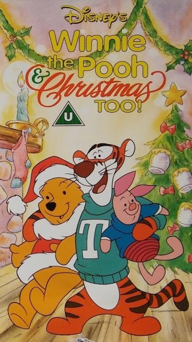 affiche poster winnie ourson noel unisson christmas too pooh disney