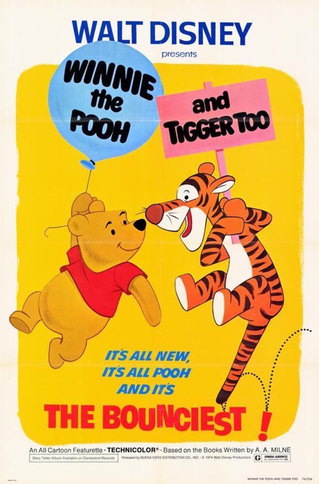 affiche poster winnie ourson tigre fou bounciest tiger disney