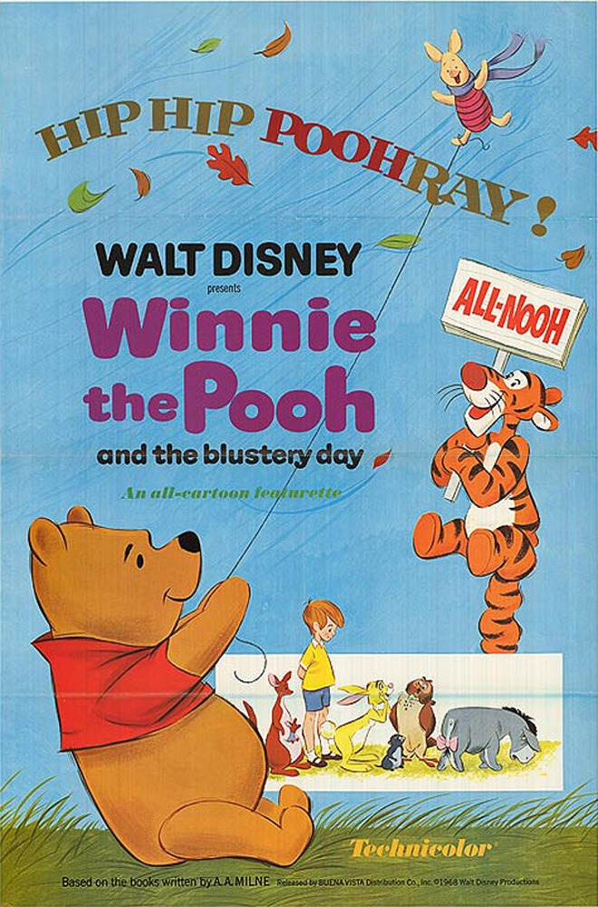 affiche poster winnie ourson vent pooh blustery day disney