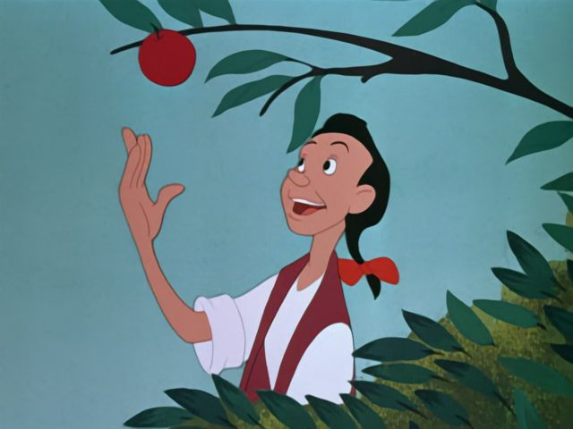 image johnny pepin pomme appleseed disney