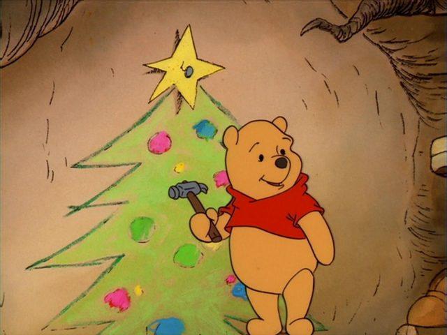 image winnie ourson noel unisson christmas too pooh disney