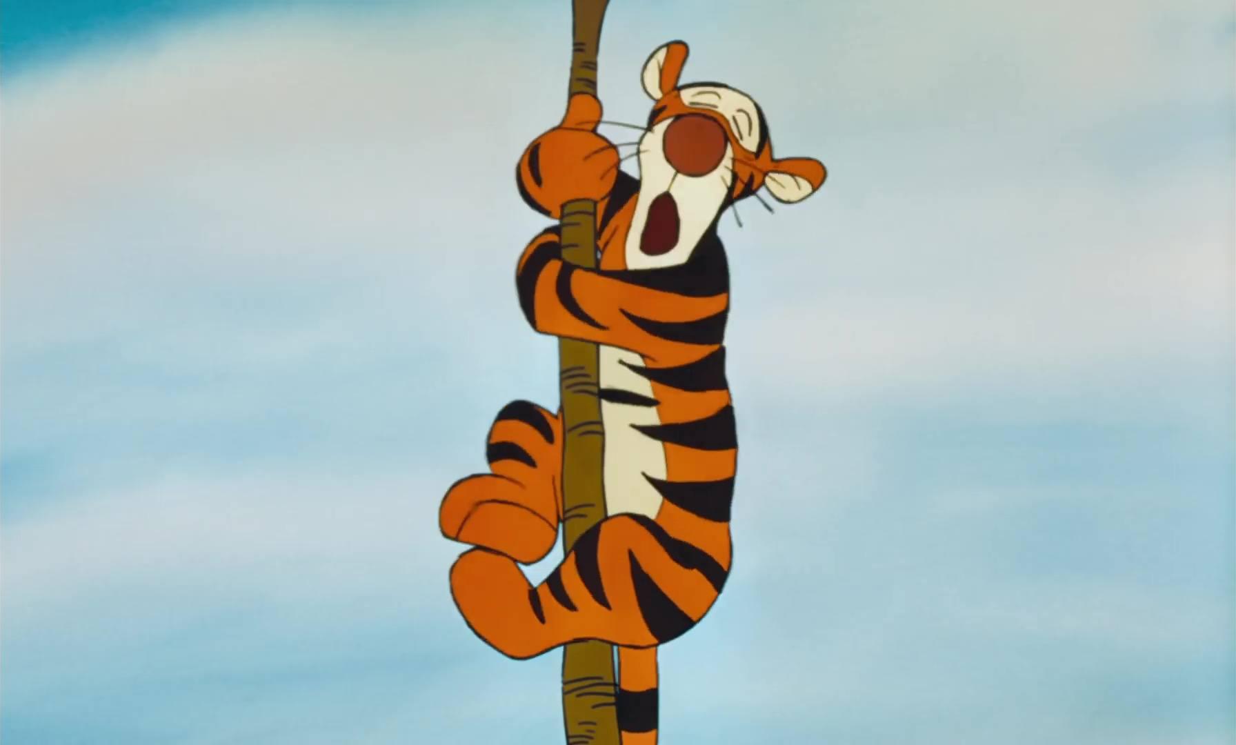 image winnie ourson tigre fou bounciest tiger disney