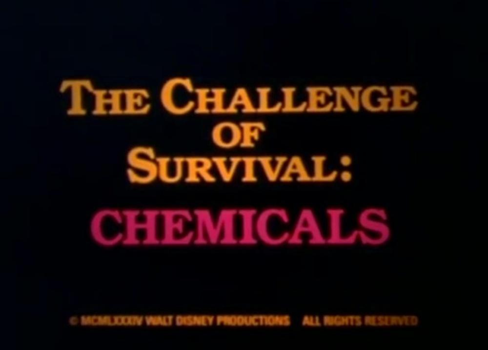 affiche poster challenge survival chemicals disney