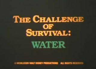 affiche poster challenge survival water disney