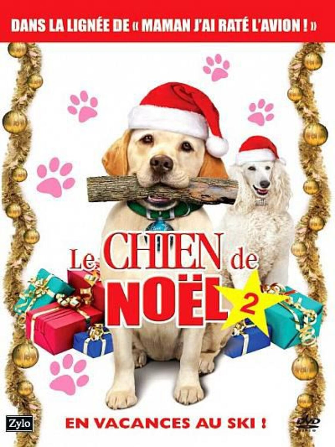affiche poster chien noel 2 vacances ski christmas vacation dog saved disney