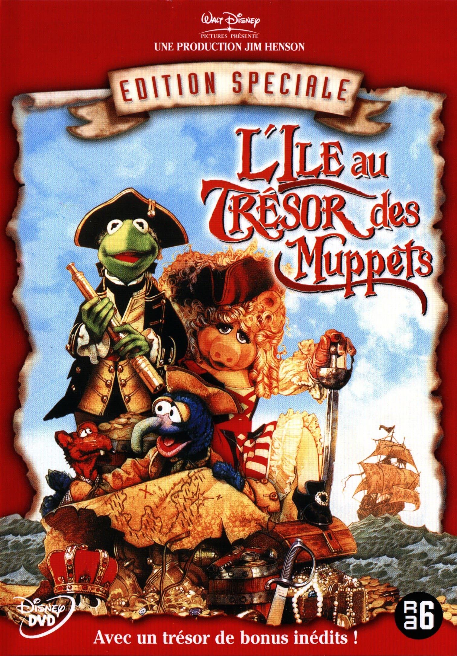 affiche poster ile trésor muppets treasure island disney