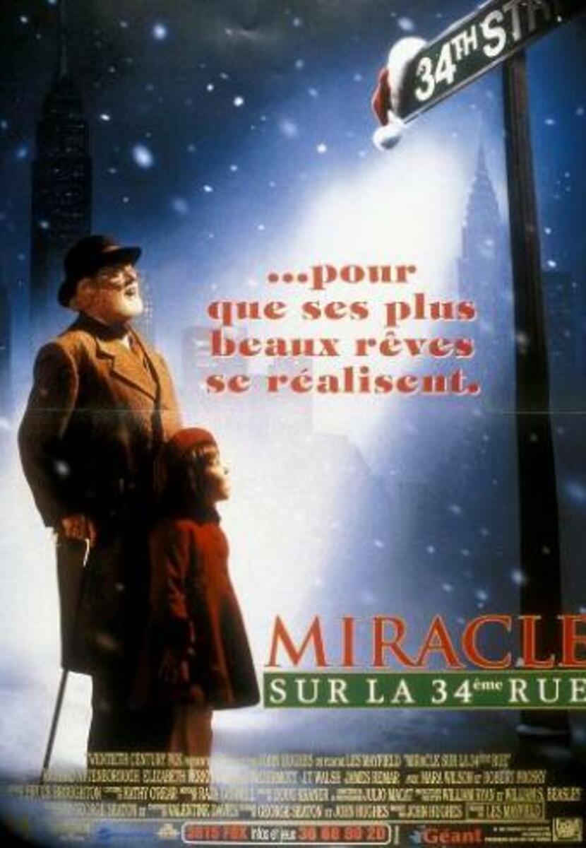 affiche poster miracle 34e rue street disney fox