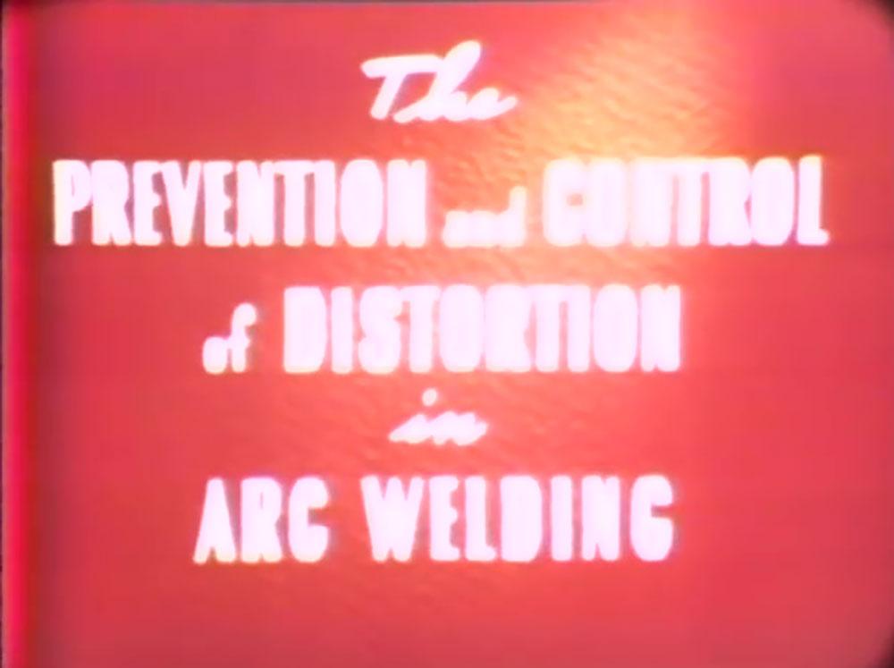 affiche poster prevention control distorsion arc welding disney