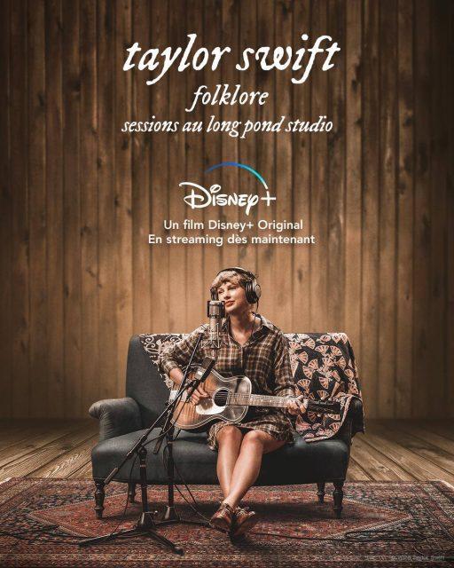 affiche poster taylor swift folklore long pond studio sessions disney