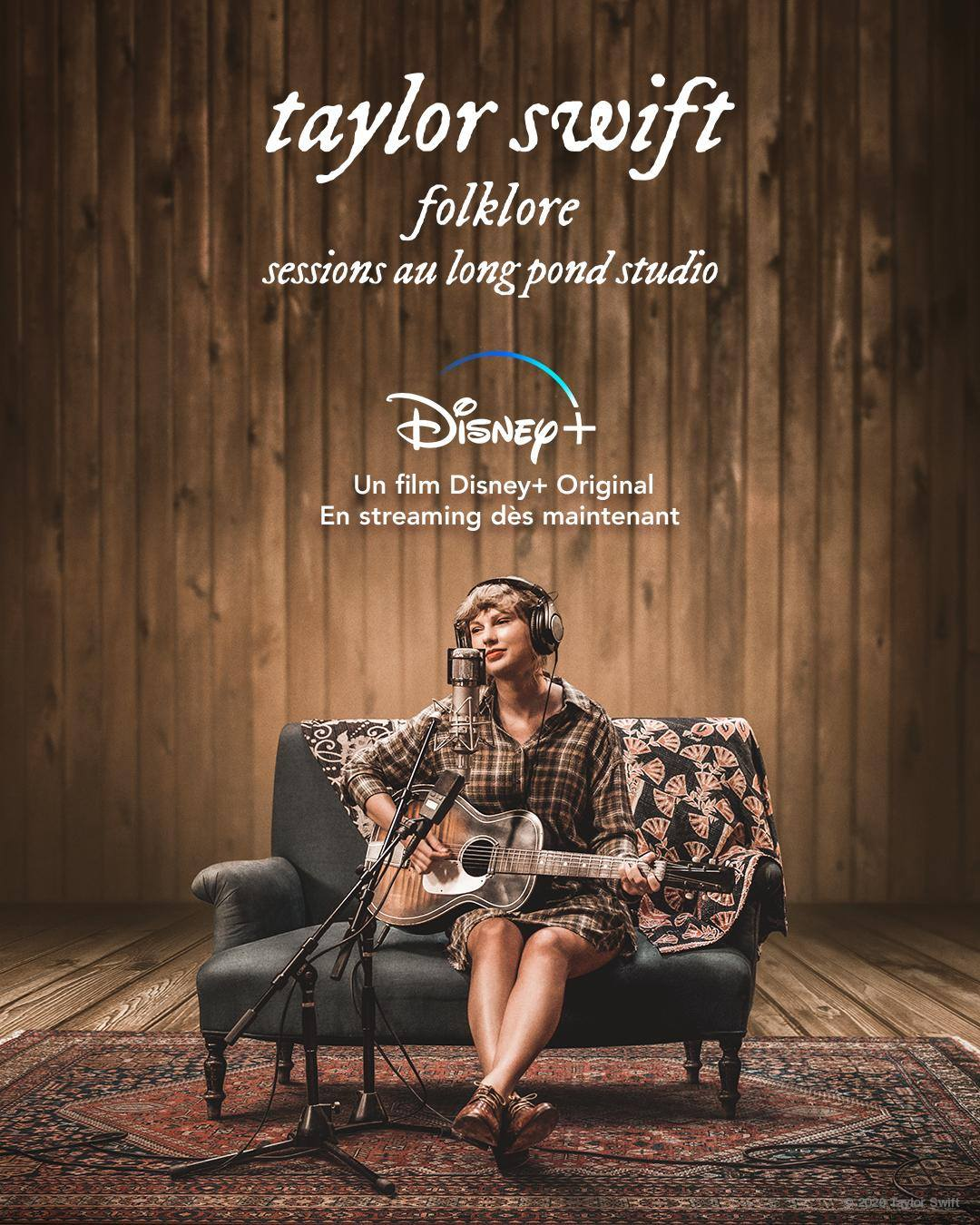 affiche poster taylor swift folklore long pond studio sessions disney