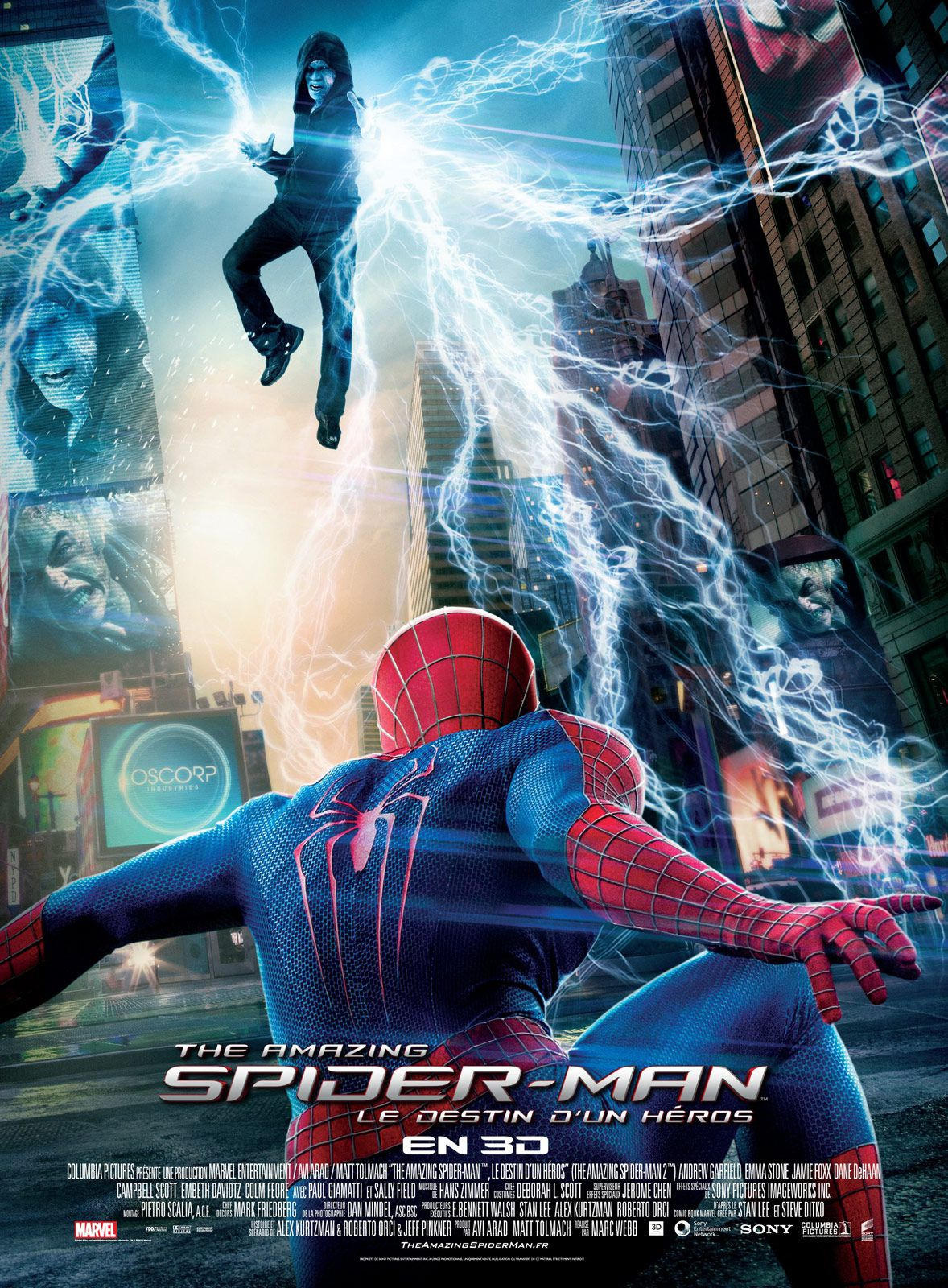 affiche poster amazing spider man 2 destin héros disney marvel