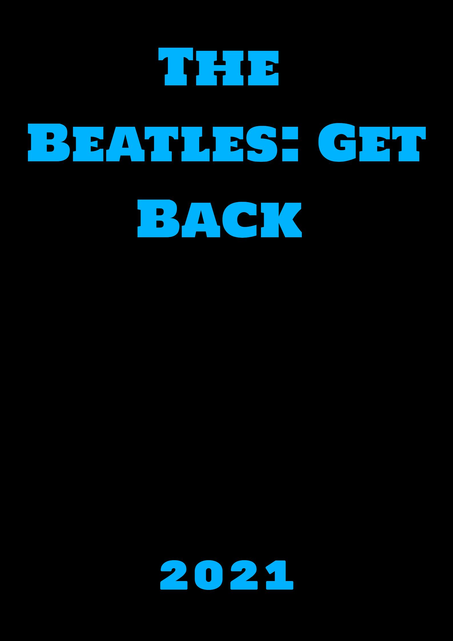 affiche poster beatles get back disney