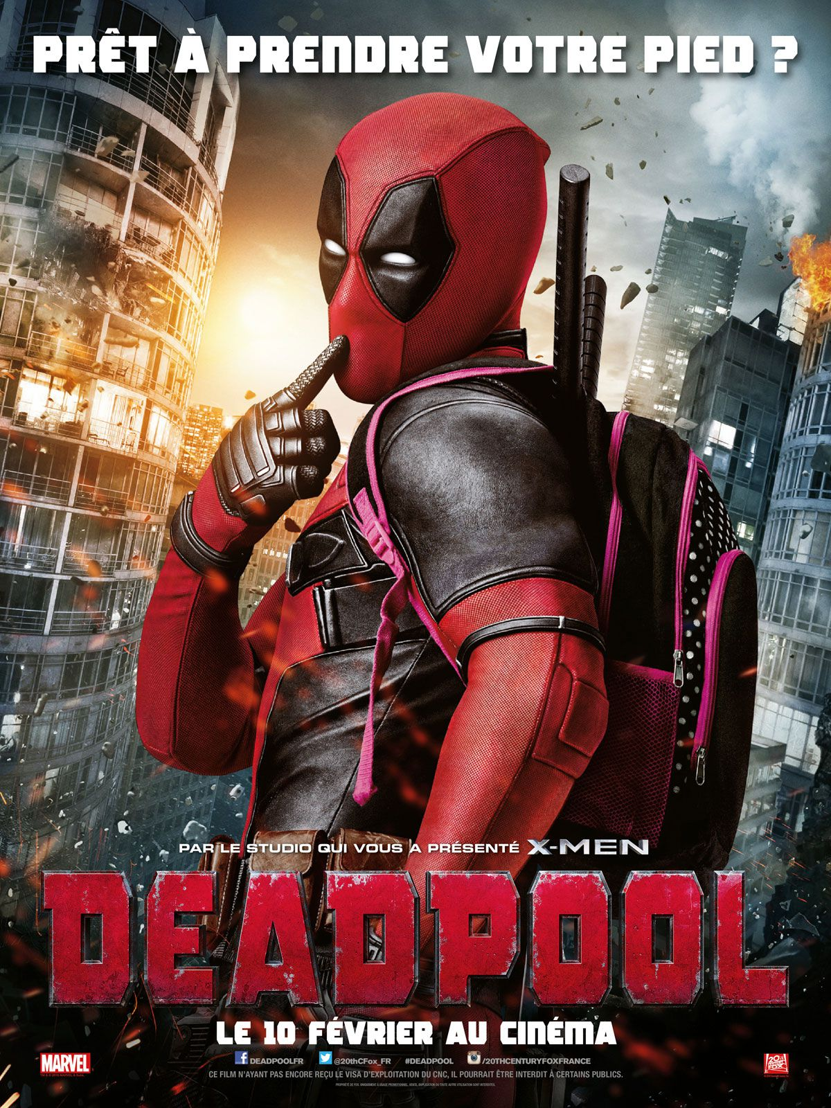 affiche poster deadpool disney marvel