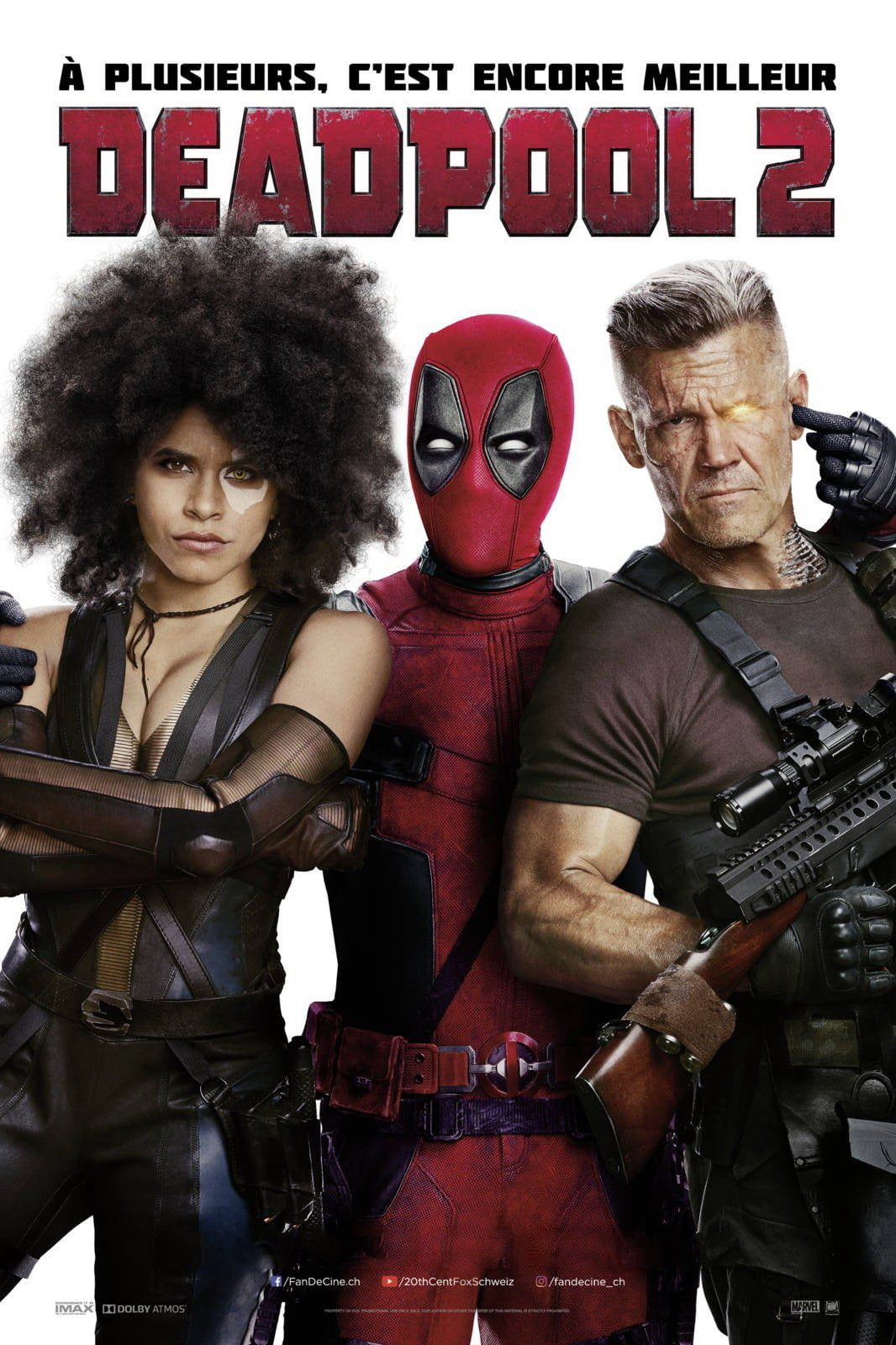 affiche poster deadpool 2 disney marvel