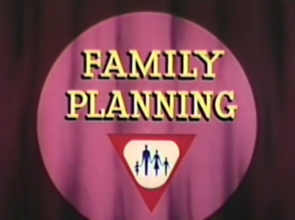 affiche poster family planning disney