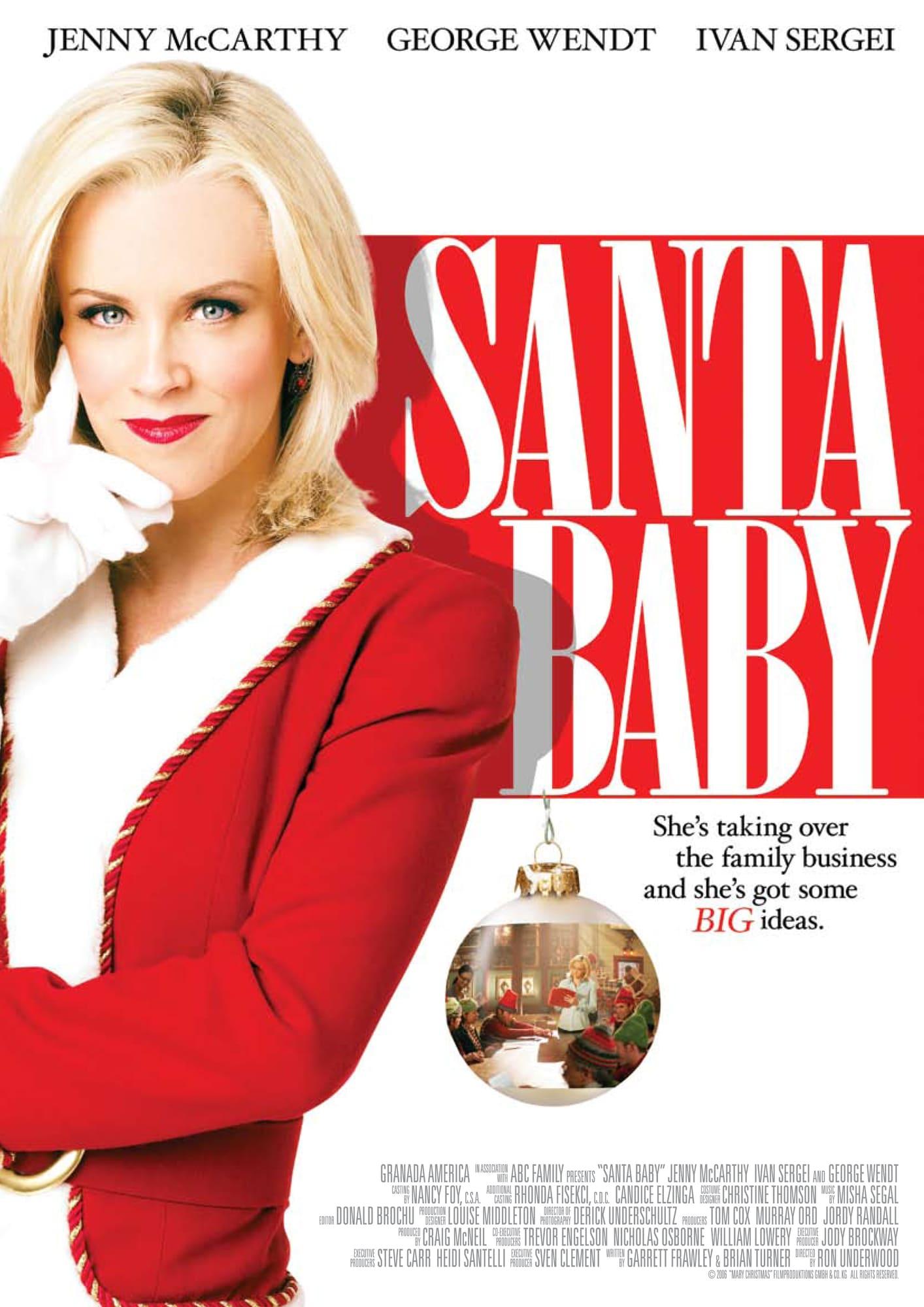 affiche poster fille pere noel santa baby disney