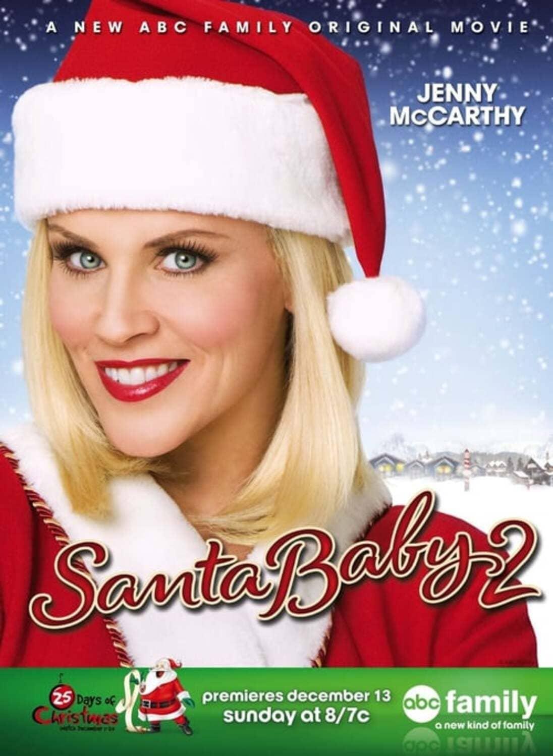 affiche poster fille pere noel 2 panique polaris santa baby christmas disney