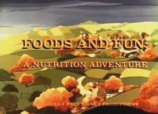 affiche poster foods fun nutrition adventure disney