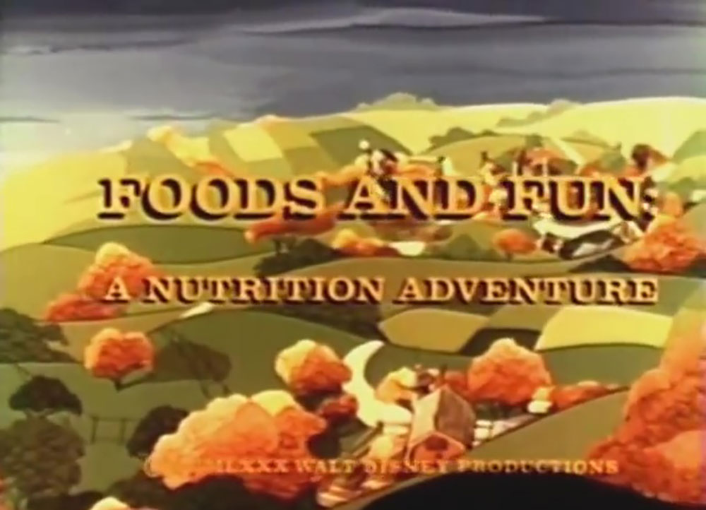 affiche poster foods fun nutrition adventure disney