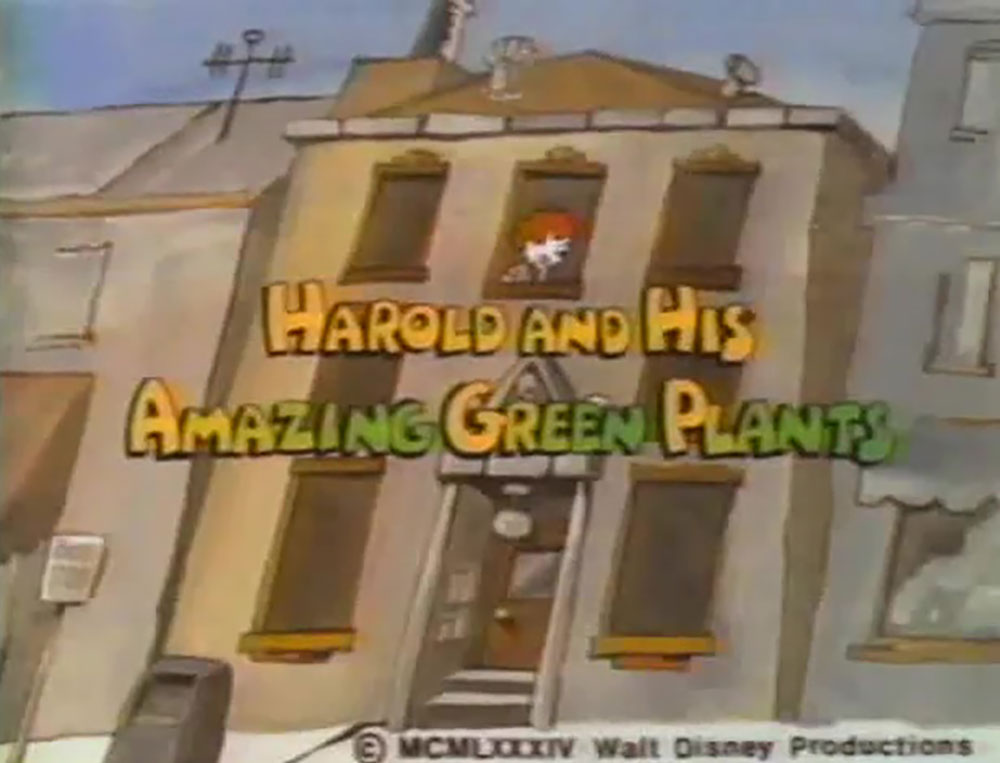 affiche poster harold amazing green plants disney