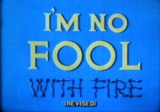 affiche poster no fool fire disney