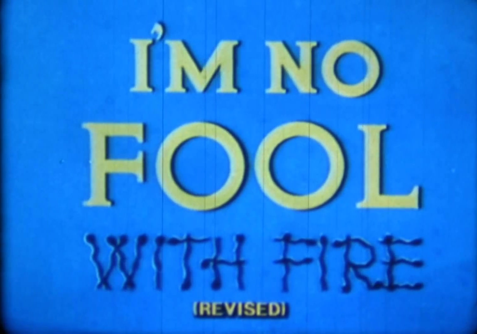 affiche poster no fool fire disney