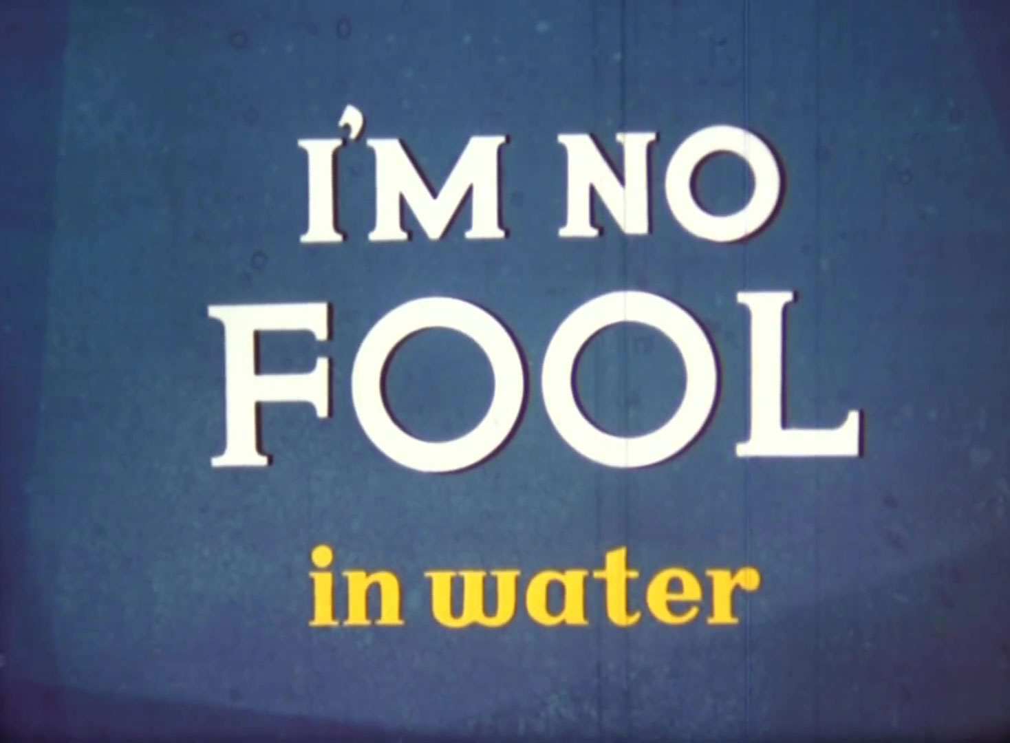 affiche poster no fool water disney
