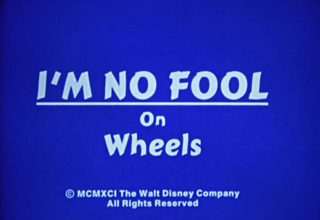 affiche poster no fool wheels disney