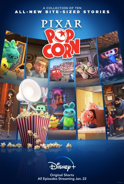 affiche poster pixar popcorn disney