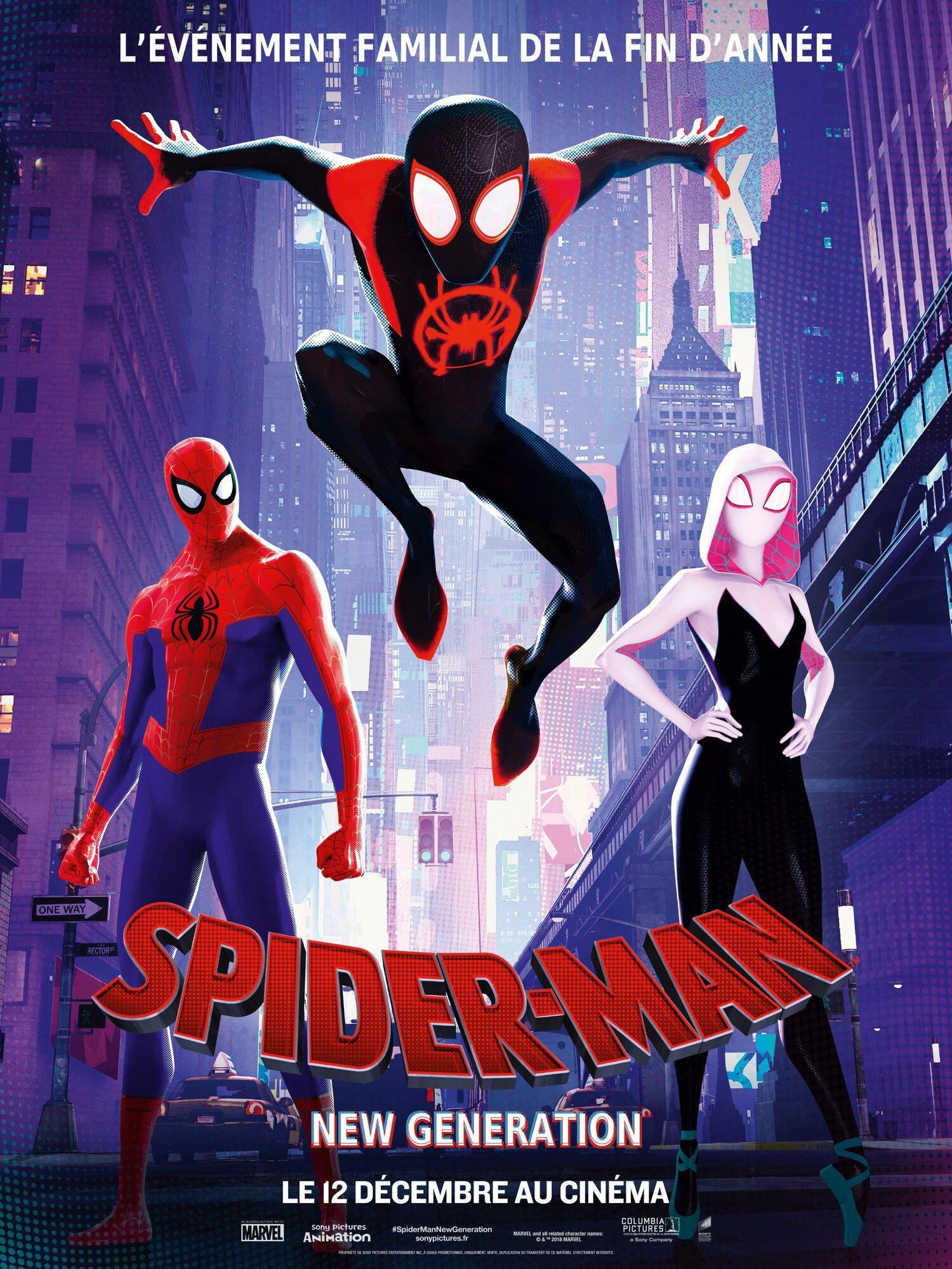 affiche poster spider-man new generation into spider verse disney marvel
