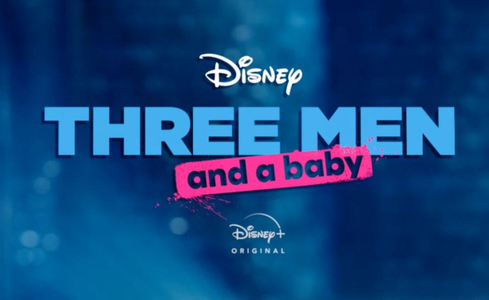 affiche poster trois homme bebe three men baby disney